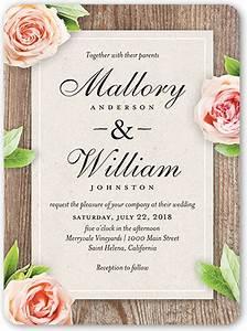 love blooms 6x8 wedding invitations shutterfly With 6x8 wedding invitations