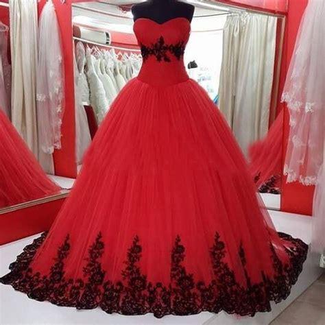 ebay wedding dresses black and white gothic 2016 black and red wedding dress organza wedding