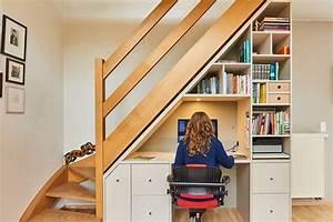 Bureau Sous Escalier : opbergruimte rond en onder de trap optimaliseren in ~ Farleysfitness.com Idées de Décoration