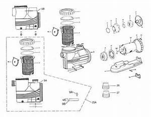 Jacuzzi Magnum Pump  Magnum Force Parts Diagram