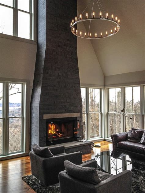 dark fireplace ideas pictures remodel  decor