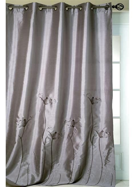 rideau gris fushia