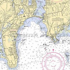 Mystic Color Chart Connecticut Niantic Nautical Chart Decor