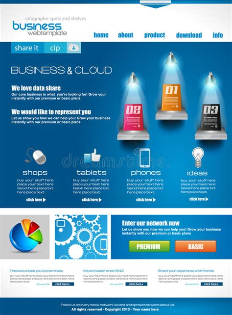 Ideal Image Corporate Website Template For Corporate Business And Cloud Purposes