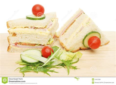 wooden salad sandwich and salad garnish stock image image 15457599