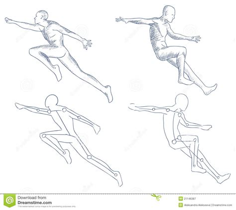 human  motion artistic sketch royalty  stock