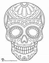 Skull Coloring Sugar Skulls Printable Sheets Calaveras Adult Woo Jr Colorear Simple Activities Colouring Adults Halloween Mexicanas Books Template Drawing sketch template