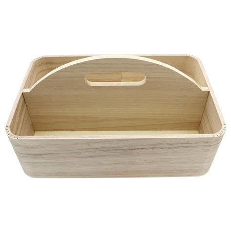 Wood Tray w/Center Handle 11.75x7.75x3.75 Nat - Walmart ...