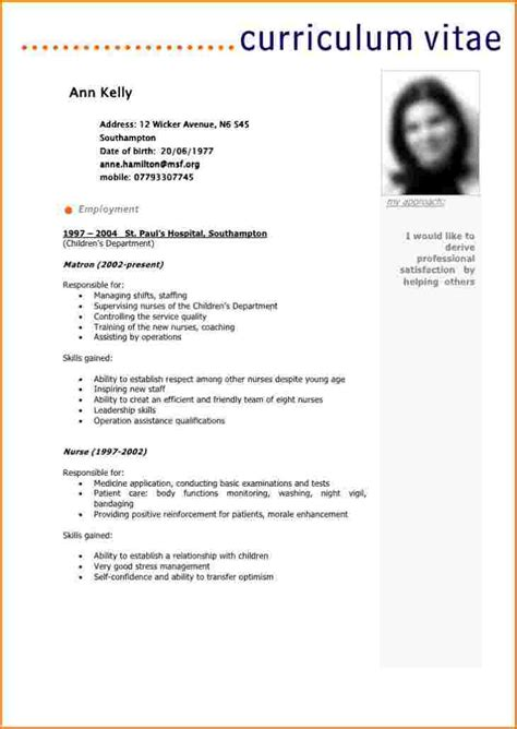 Model De Cv En Francais Simple by Cv Francais Exemple Lusocarrelage