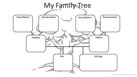 printable family tree worksheet  family tree