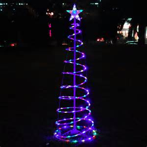 6 color changing led spiral tree lights outdoor indoor holiday christmas d 233 cor ebay