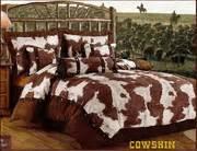 Cowhide Comforter Set by Rustic Faux Cowhide Comforter Set