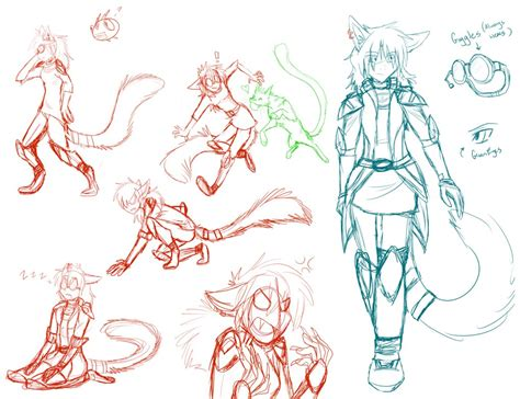 sana sketch character sheet wip by firewolf anime on