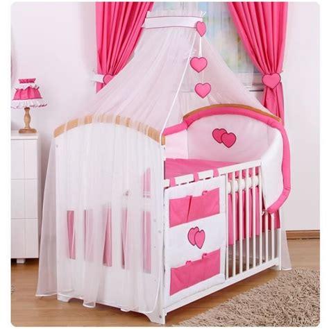 parure de lit bebe fille parure de lit b 233 b 233 9 pcs avec ciel de lit achat vente parure de lit b 233 b 233