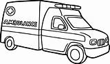Ambulance Coloring Pages Transportation Printable sketch template