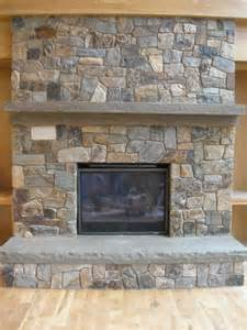 Refacing A Fireplace With Stone Veneer by O N E Stone Treads