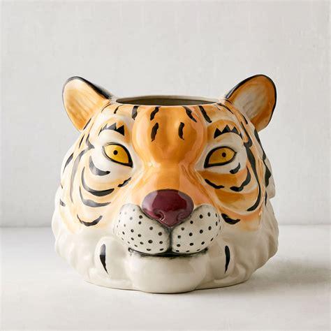 Tiger Head Planter - The Green Head