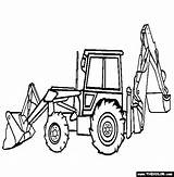 Coloring Backhoe Loader Pages Skid Steer Construction Drawing Trucks Draw End Clipart Bulldozer Digger Dump Sketch Truck Thecolor Printable Getdrawings sketch template