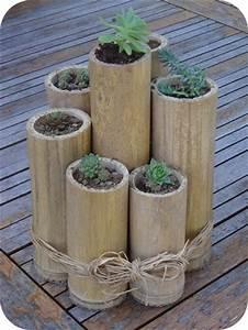 Gros Bambou Deco : pot naturel en bambou id e d co fabriquer loisirs cr atifs ~ Teatrodelosmanantiales.com Idées de Décoration