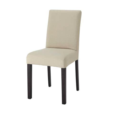 housse de chaise courte housse de chaise en coton mastic tempo maisons du monde