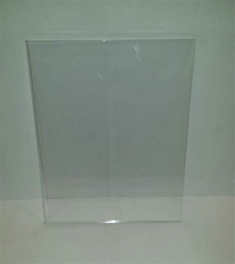 8 5 x 11 acrylic sign holder for table tops buy 8 5 quot x 11 quot clear acrylic wall mount sign holder item