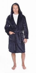 luxury men39s flannel fleece hooded robe dressing gown m With robe de chambre homme luxe
