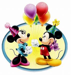Imagem para face Minie e Mickey mouse segurando bexigas ...