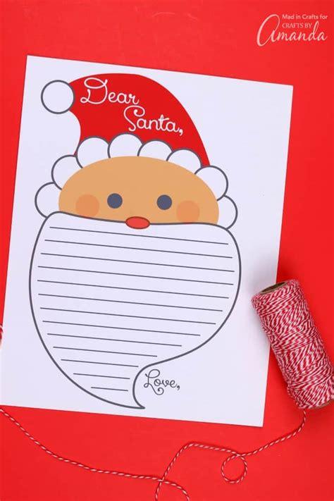 letter  santa printable print    letter