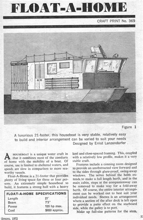 Scow Houseboat Plans by For Sailor Free Houseboats Plans