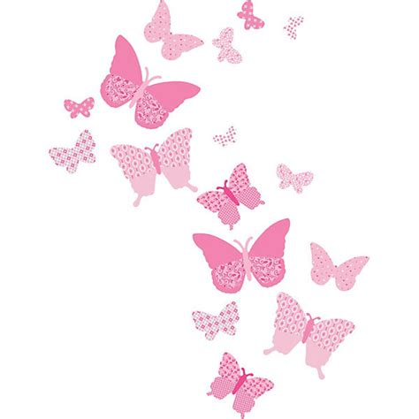 frise chambre bébé fille wandsticker schmetterlinge rosa 16 tlg funtosee mytoys