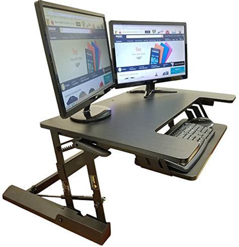 standing desk converter amazon standing desk adjustable converter fits big monitors