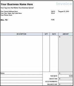 blank invoice statement form free invoice template from With free construction invoice forms