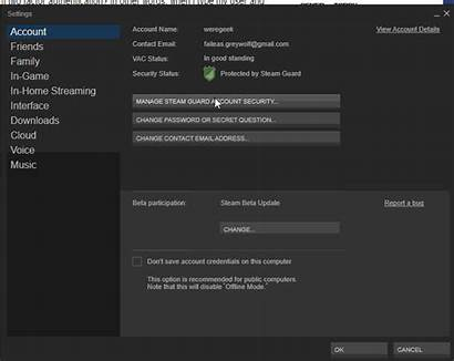 Steam Authentication Factor Disable Duplicate Turn Improve