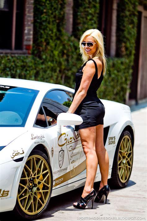 Cars & Girls Blonde Flanks Lamborghini Lp560 Tt  Sport Cars