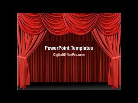 Red Curtain PowerPoint Template Backgrounds