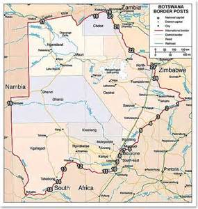 Botswana Border Posts Map Botswana