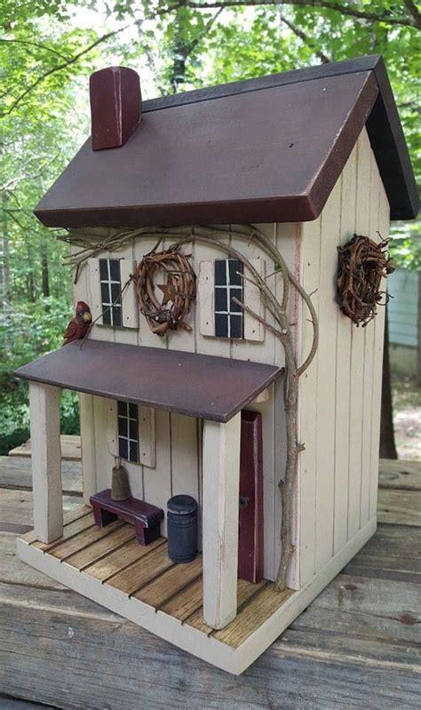 Farmhouse Primitive Birdhouse Rustic
