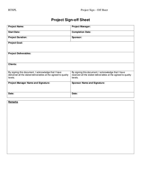 Training Completion Sign Off Sheet Template by Project Sign Off Tempalte