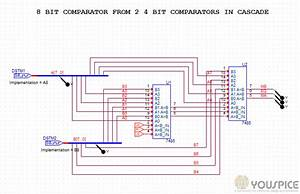 8 Bit Comparator With Two 4 Bit Comparator In Cascade
