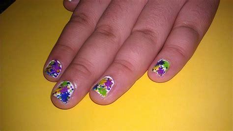splatter paint nail design   paint  splatter