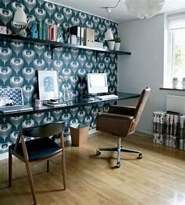Papier Peint Bureau : designs uniques de bureau suspendu ~ Melissatoandfro.com Idées de Décoration