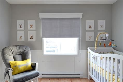 chambre b and b décoration chambre de bébé gris et jaune thème
