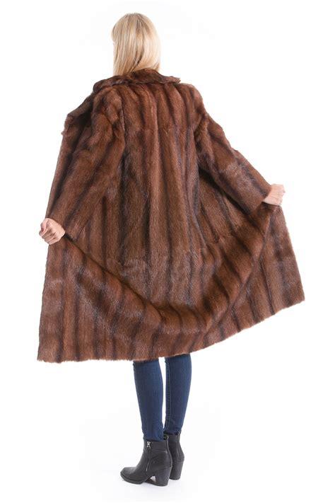 buy marmot coat  brown genuine fur    furs