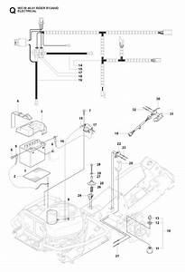Husqvarna Rider 13 Awd  965094601  Ride On Mower Electrical Spare Parts Diagram
