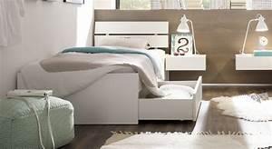 Betten 200 X 200 : einzelbett in z b 100x200 cm mit schubladen in wei mocuba ~ Frokenaadalensverden.com Haus und Dekorationen