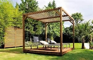 Tonnelle En Bambou : les mat riaux de fondation et de structure d 39 une pergola ~ Premium-room.com Idées de Décoration