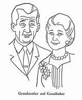 Coloring Parents Grandparents Gran Pages Printable Netart Grandparent Getcolorings sketch template
