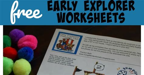 early explorers preschool free early explorers worksheets 485