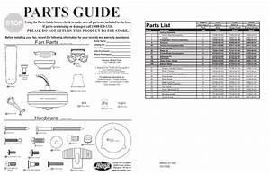 Parts Guide  Parts List  Fan Parts