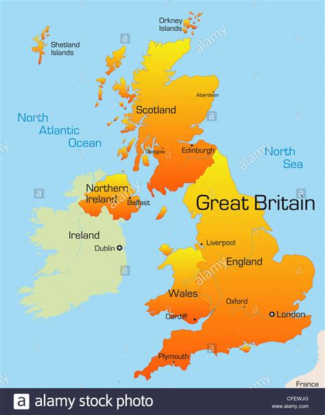abstract vector color map  great britain country stock